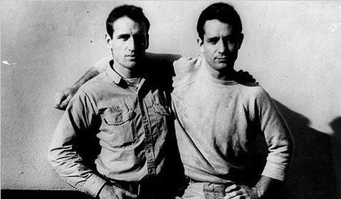 Os amigos Neal Cassady e Jack Kerouac