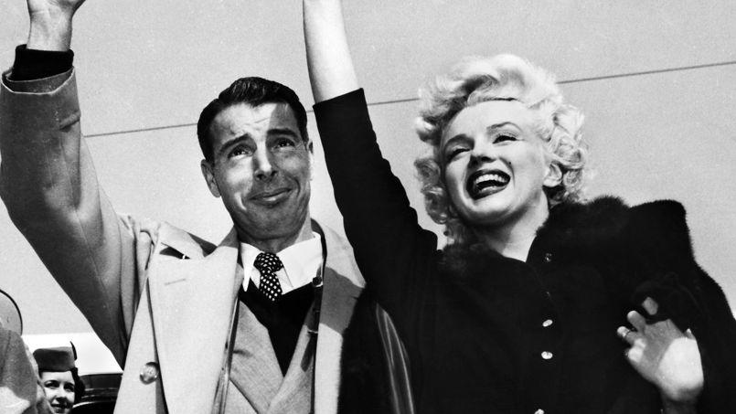 DiMaggio e Marilyn logo após o casamento em janeiro de 1954