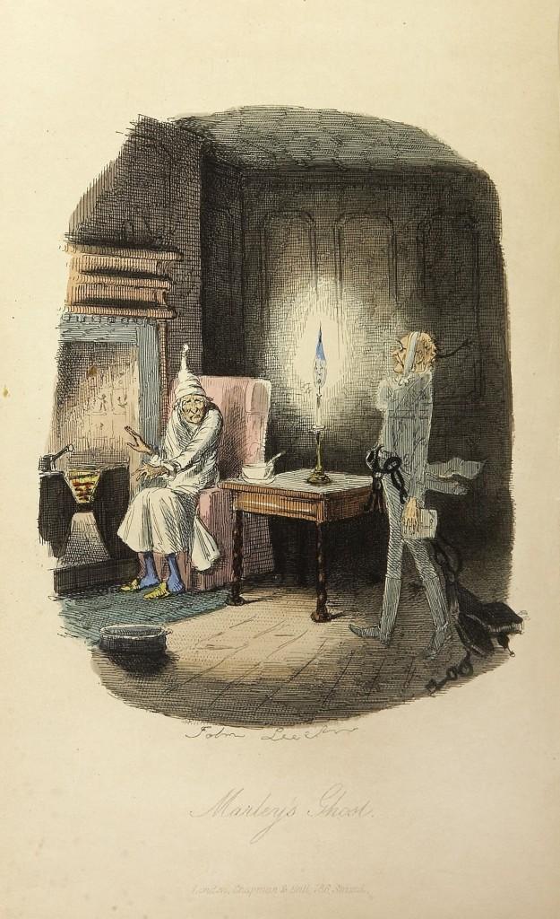 """Outra ilustração de John Leech para """"Um conto de Natal"""""""