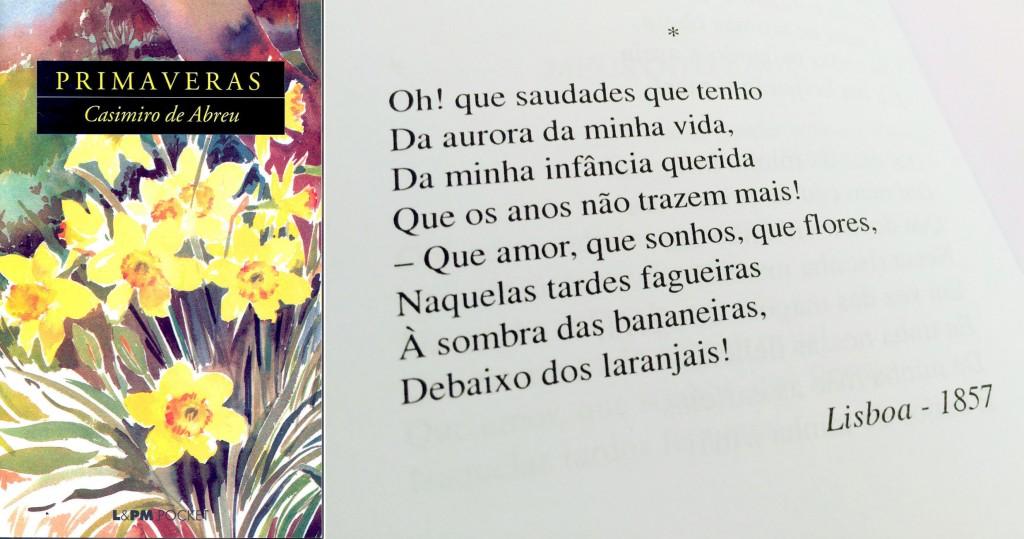 "Trecho do poema ""Meus oito anos"", de Casimiro de Abreu."