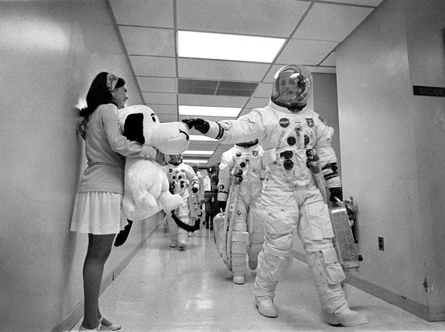Snoopy era mascote dos astronautas da Apollo 10