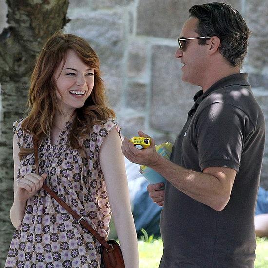 """Emma Stone e Joaquin Phenix nas filmagens de """"Irrational Man"""""""