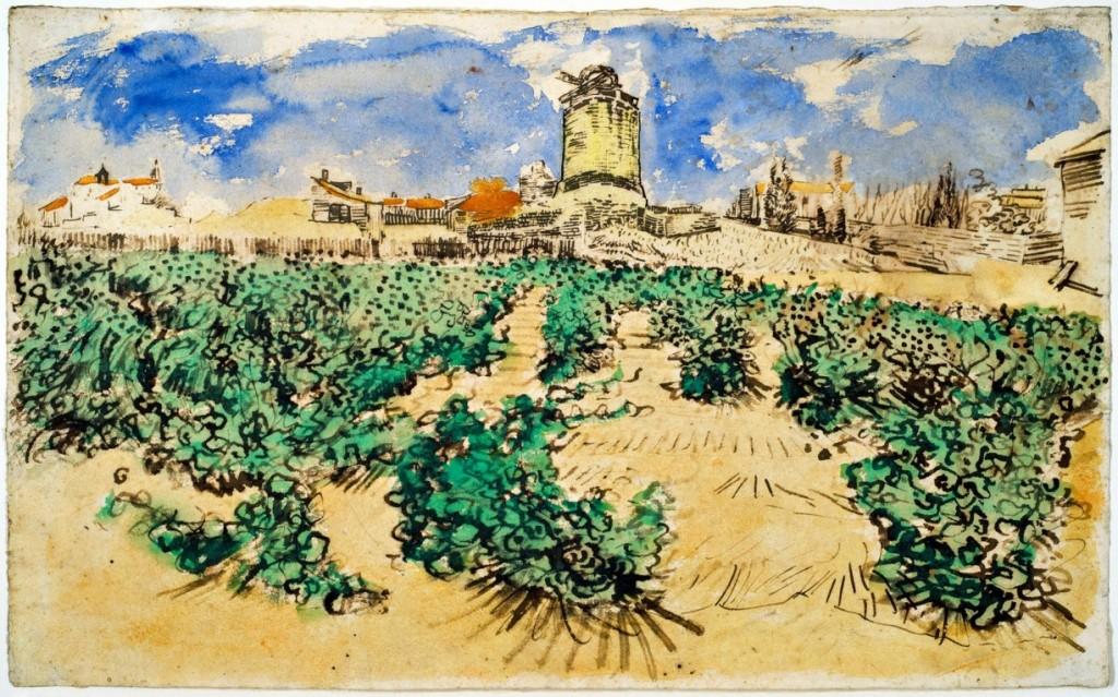 """""""Le Moulin d'Alphonse Daudet à Fontvieille"""", de Vincent Van Gogh"""