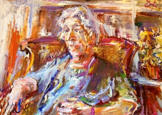 Agatha Christie aos 80 anos por Oskar Kokoshka