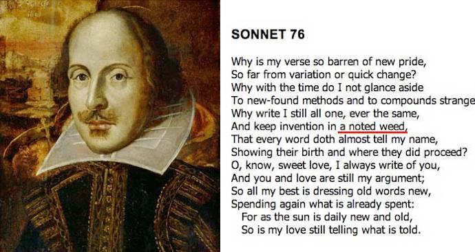 Shakespeare Soneto canabis