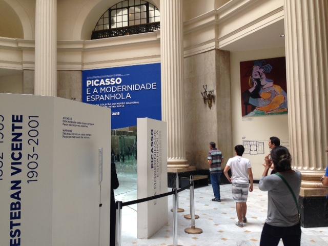 A entrada da exposição