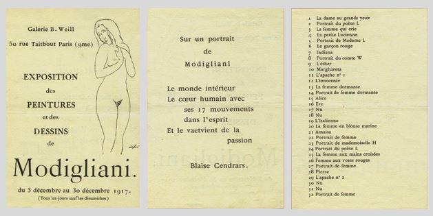 Material da exposição com texto do poeta Blaise Cendrars