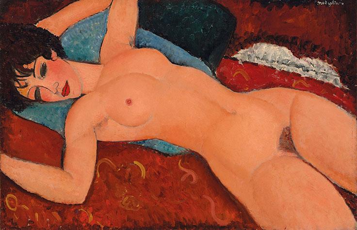O nu de Modigliani arrematado em leilão por mais de R$ 600 milhões