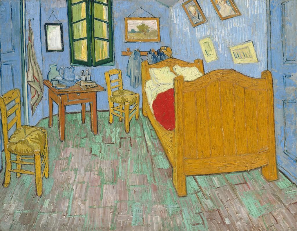 Van Gogh pintou três versões do seu quarto em Arles, esta é uma delas