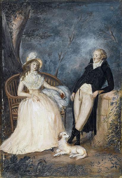 """""""Goethe e Charlotte"""", pintura do século XVIII, autor desconhecido"""