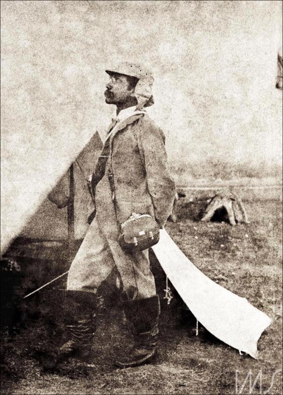 Autorretrato de Flávio de Barros, em Canudos, no ano de 1897