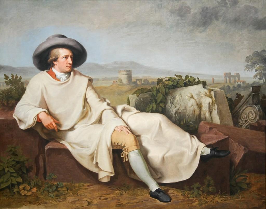 Goethe in the Roman Campagna, Johann Heinrich Tischbein, 1787