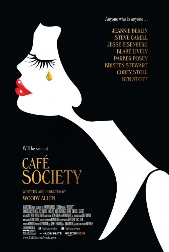 """Nós achamos lindo o poster de """"Café Society"""", novo filme escrito e dirigido por Woody Allen"""
