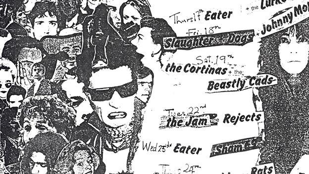 Flyer do Roxy Club, reduto punk londrino