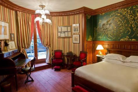 A suíte Oscar Wilde, no L'Hotel. © L'Hotel