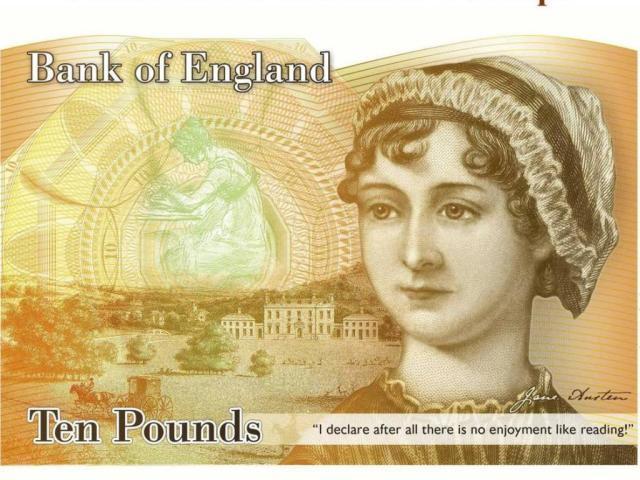 Jane Austen nota dinheiro