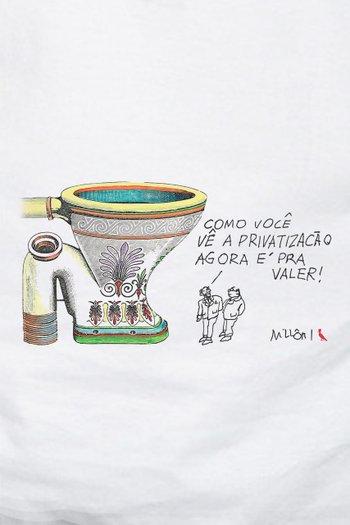 CAMISETA PRIVATIZACAO BRANCA MILLOR
