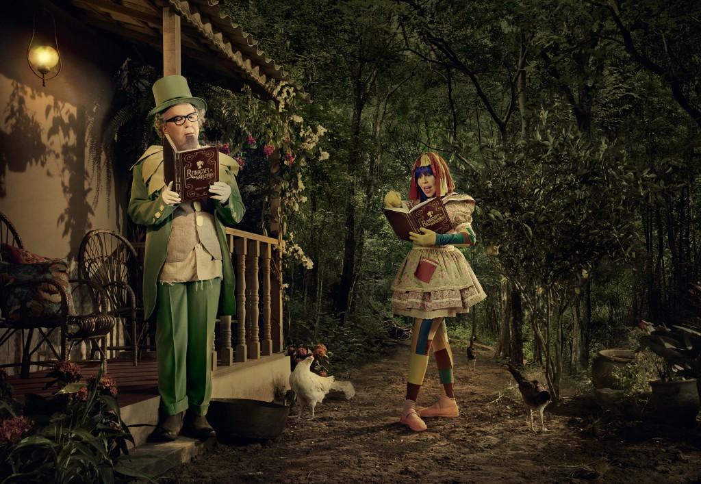 Diretamente do Sítio do Picapau Amarelo: Washington Olivetto como Visconde de Sabugosa e Baby do Brasil como Emília