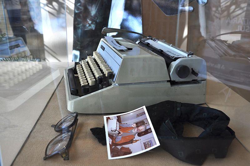 Máquina de escrever usada por Josué Guimarães compõe a mostra em sua homenagem | ©Arquivo/UPF