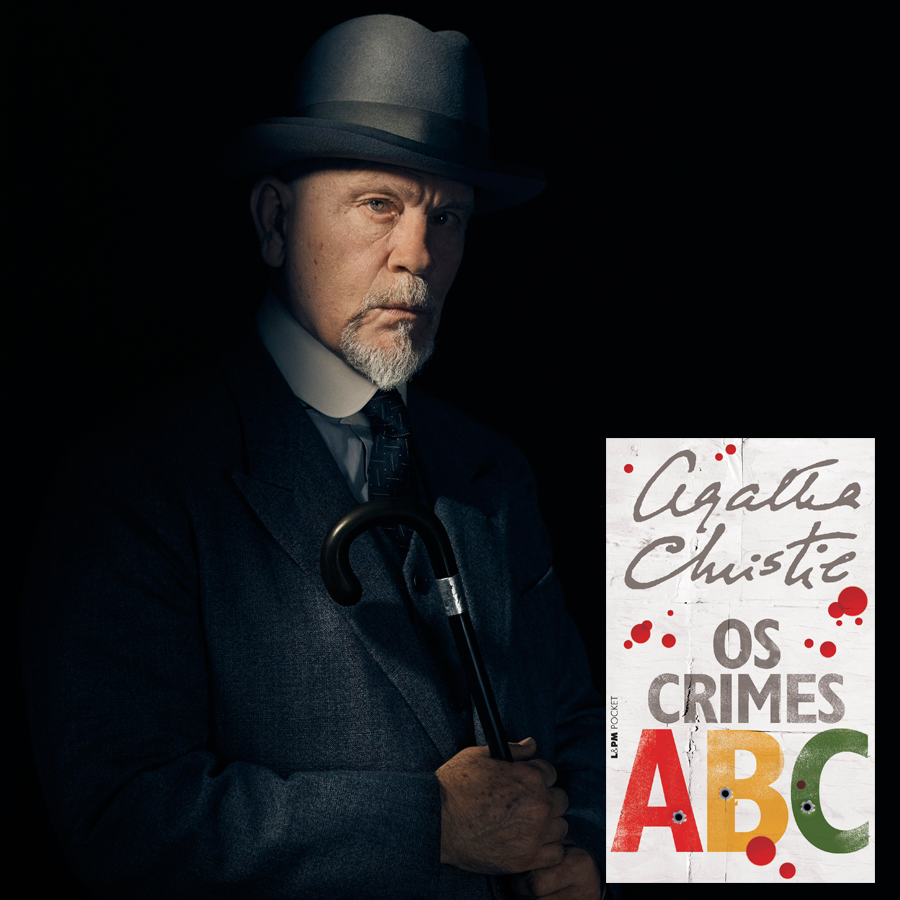 Poirot Malkovith com livro