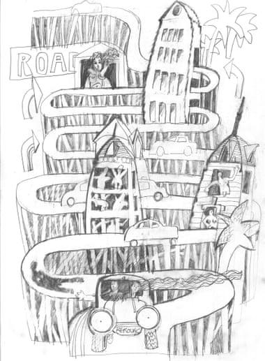 Esboço feito por Peter Greenaway